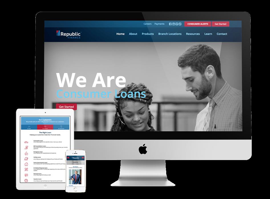 Republic Finance Website & Digital Presence