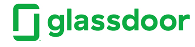 glassdoor logo, two green right angles forming a rectangle