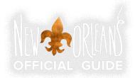 Visit New Orleans logo with Fleur de lis