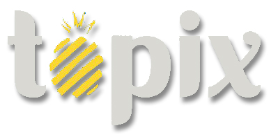 topix logo with pineapple as the