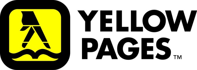 Yellow Pages logo, fingers walking over pages