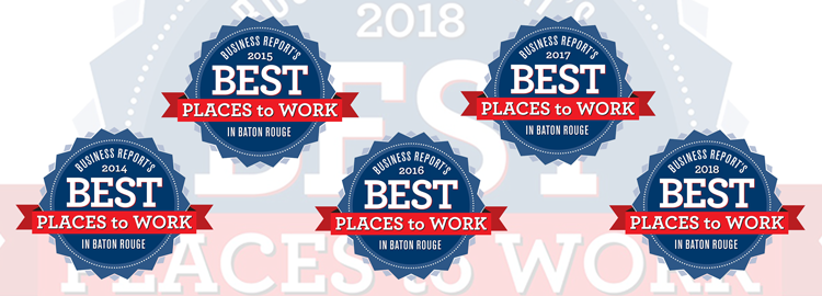 Envoc celebrates 5th consecutive recognition as one of Baton Rouge's Best Places to Work