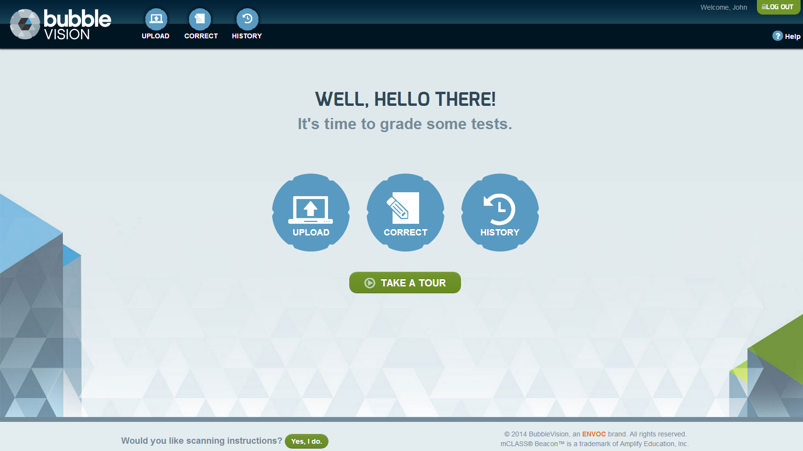 BubbleVision Landing Page