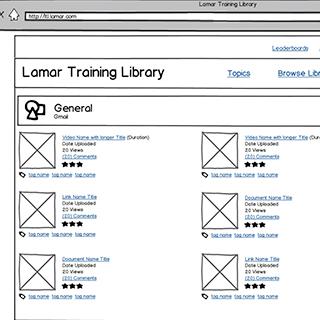 Custom Employee Training Library Software Wireframe