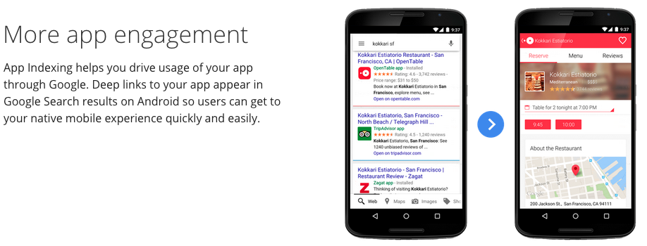 Google App Indexing and App Engagement