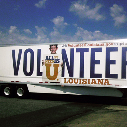 Volunteer Louisiana Ad Campaign Truck Wrap Design