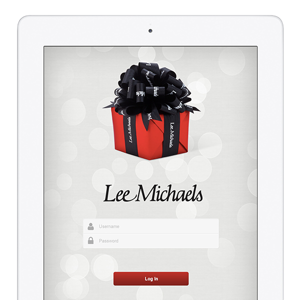 Lee Michaels Retail Sales CRM iPad Screenshot
