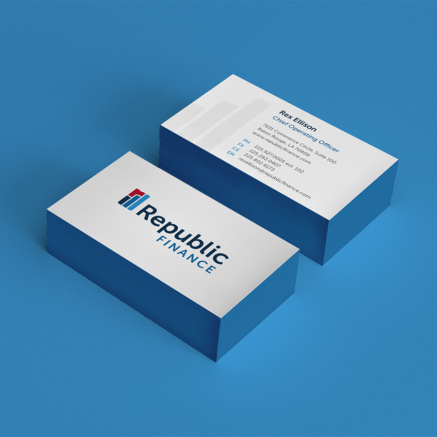 Republic Finance Branding: Business Cards