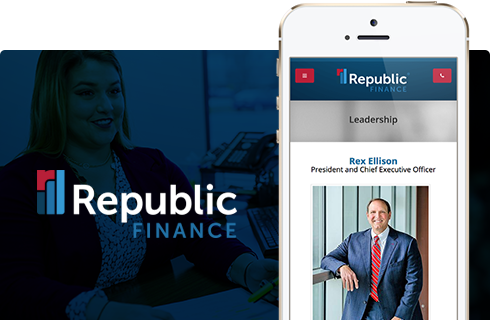 Republic Finance Website & Digital Presence