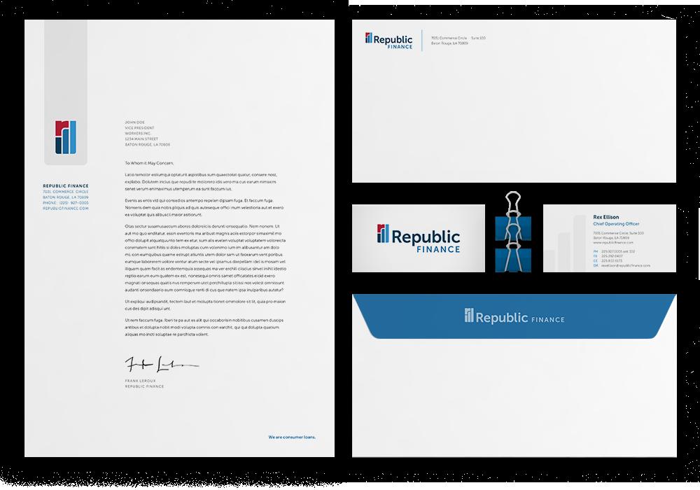 Republic Finance Branding