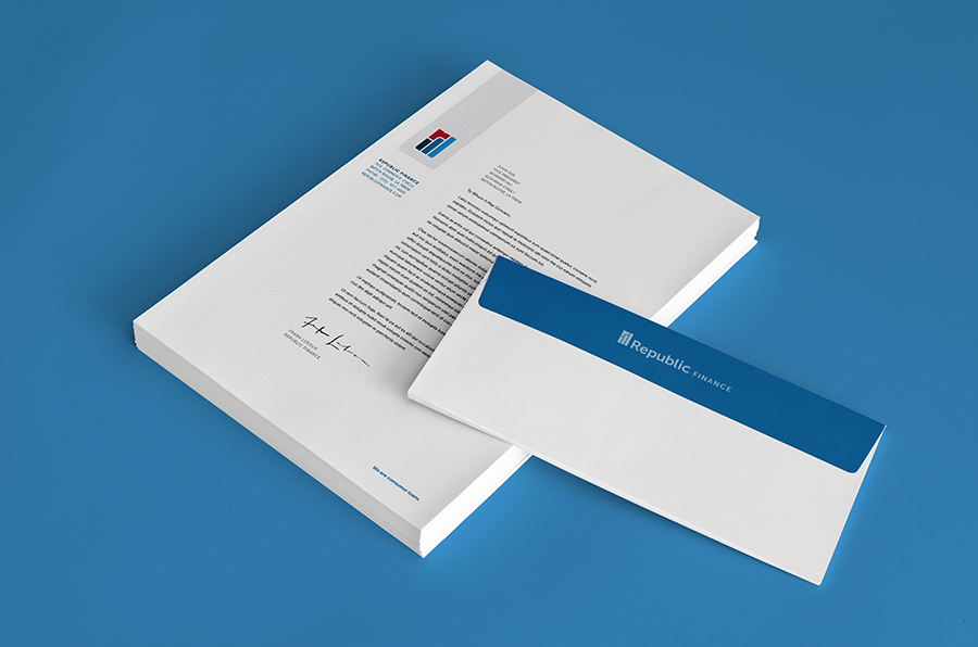 Republic Finance Branding: Letterhead