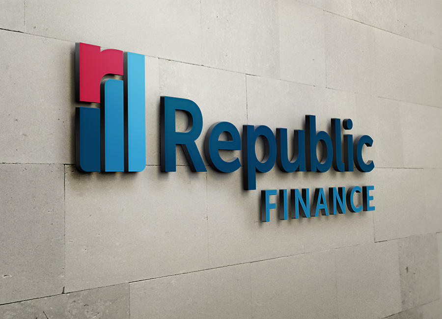 Republic Finance Branding: Signage