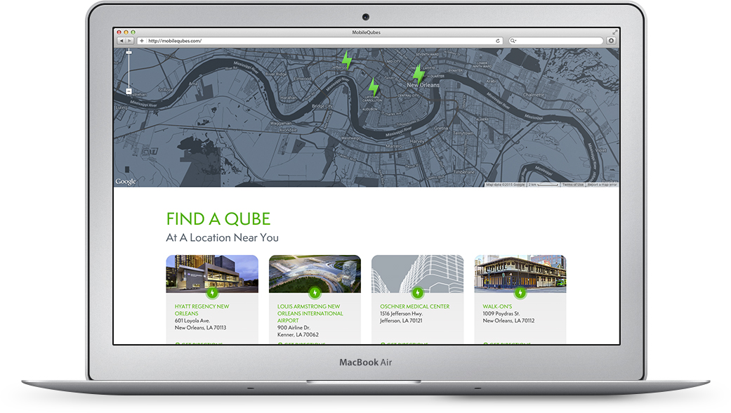 MobileQubes Web Design Find a Location