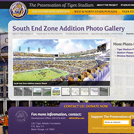 LSU-TAF Preservation of Tiger Stadium Web Design