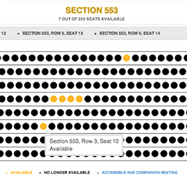 Interactive Seat Map Selection Design