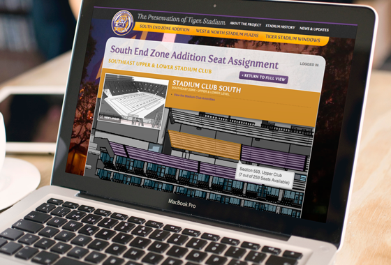 Preservation of Tiger Stadium Web Design