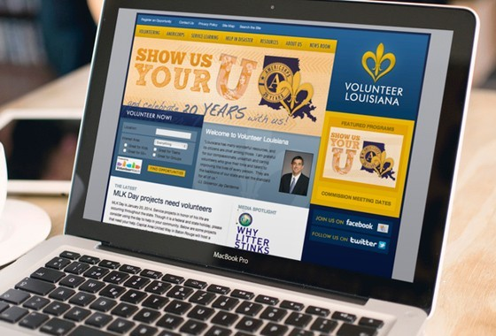 Volunteer Louisiana Website Design