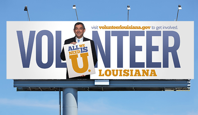 Volunteer Louisiana Advertising Campaign Billboard Design
